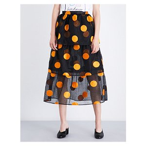 Sartre embroidered skirt
