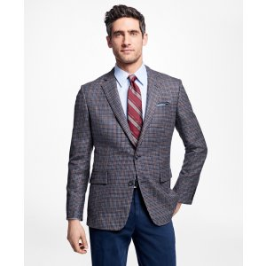 Regent Fit Multi-Check Sport Coat - Brooks Brothers
