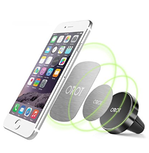 $4Orot Cell Phone Holder Magnetic Car Mount GPS Air Vent for Smartphones (Black)