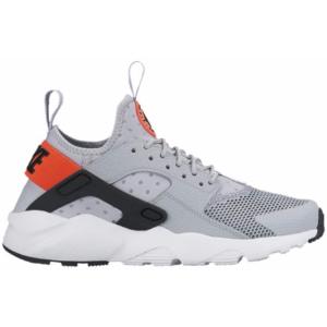 Nike Huarache Run Ultra - Boys' Grade School - Running - Shoes - Wolf Grey/White/Bright Crimson/Black