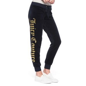 VELOUR JUICY MIRROR EMBLEM ZUMA PANT