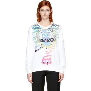 White Limited Edition Geo Rainbow Sweatshirt