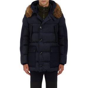 Moncler Fur-Trimmed Quilted Hooded Parka | Barneys New York