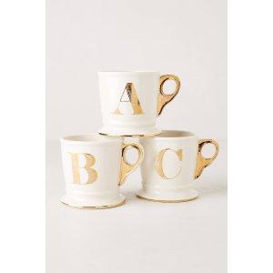 Limited Edition Golden Monogram Mug | Anthropologie