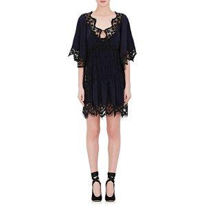 Chloé Lace-Trimmed Silk Dress | Barneys Warehouse