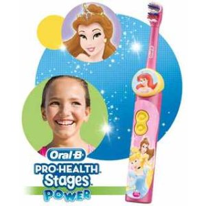Oral-B Pro-Health Stages Disney Princess Power Kid's Electric Toothbrush (for children age 3+) : Childrens Electric Toothbrush : Beauty