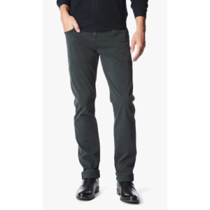 Luxe Performance Sateen The Straight Jeans in Black Emerald - 7FORALLMANKIND