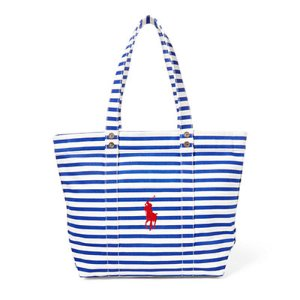 Striped Canvas Tote - All Accessories � Women - RalphLauren.com