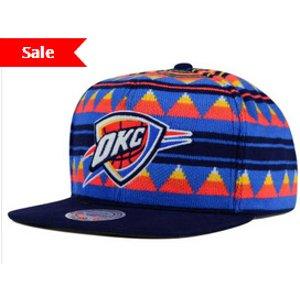 Oklahoma City Thunder Mitchell and Ness NBA Mixtec Snapback Cap