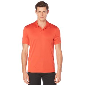 Short Sleeve Open Collar Polo - Perry Ellis