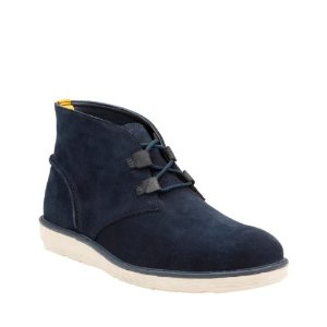 Fayeman Hi Navy Suede - Mens Shoes with Ortholite Technology - Clarks® Shoes Official Site