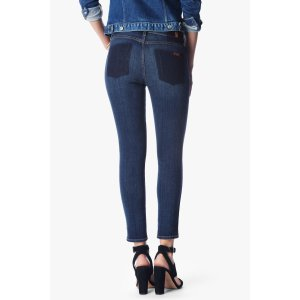 The Ankle Skinny Jeans in Medium Shadow Blue - 7FORALLMANKIND
