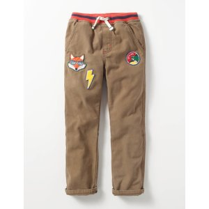 Rib Waist Pull-on Pants B0081 Trousers & Jeans at Boden