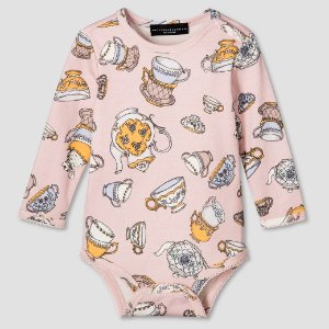 Baby Blush Tea Party Printed Bodysuit - Victoria Beckham for Target