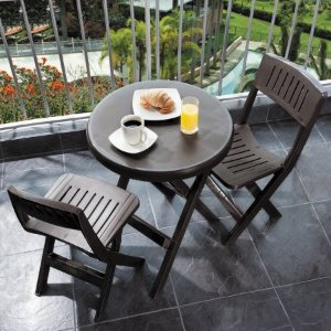 Rimax Casual Brown Folding Bistro Set - Walmart.com
