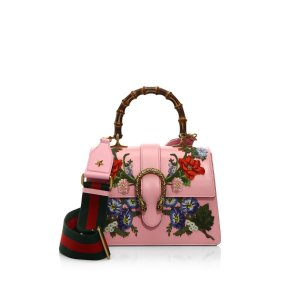 Dionysus Embroidered Leather Top Handle Bag by Gucci