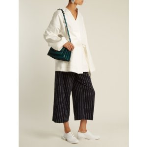 Texel pinstriped wool cropped trousers | Acne Studios