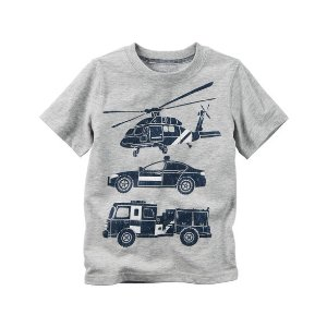 Kid Boy Rescue Car Graphic Tee | Carters.com
