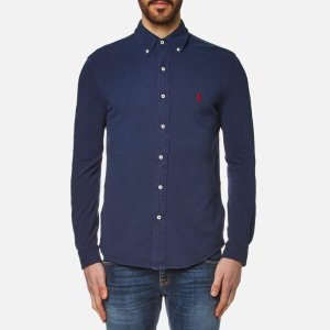 Polo Ralph Lauren Men's Featherweight Mesh Slim Fit Shirt - Navy