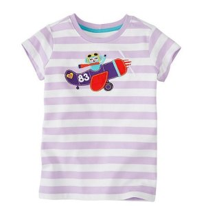 Girls Get Appy Appliqué Tee In Supersoft Jersey