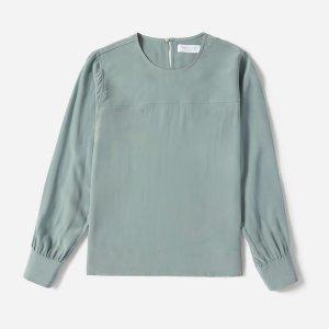 The Silk Long-Sleeve Blouse