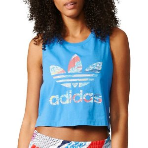 Adidas 女士蓝色短背心