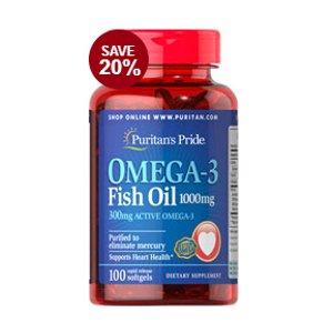 强效鱼油Omega-3 1000 mg 100粒