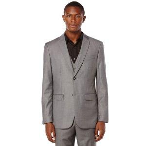 Modern Fit Solid Sharkskin Suit Jacket