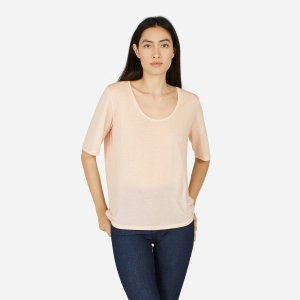 The Luxe Drape Cropped Scoop-Neck Tee | Everlane