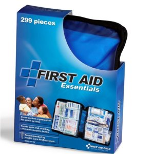 $11.87First Aid Only All-purpose First Aid Kit, Soft Case with Zipper, 299-Piece Kit, Large, Blue