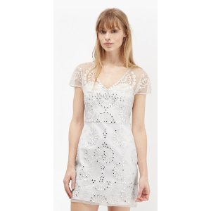 Evie Sparkle Embroidered Mini Dress | Sale | French Connection Usa