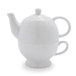 Porcelain Teapot with Cup | Sur La Table