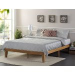 Zinus 12 Inch Wood Platform Bed / No Boxspring Needed / Wood Slat Support / Rustic Pine Finish, Queen