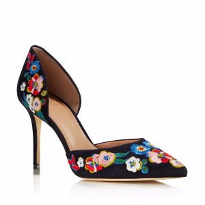 Rosemont Embroidered d'Orsay High Heel Pumps