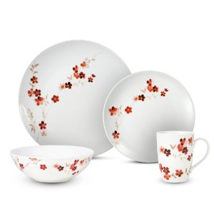 Gourmet Basics Lindsey 16 Piece Dinnerware Set