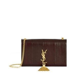 Saint Laurent Tassel Monogram Shoulder Bag