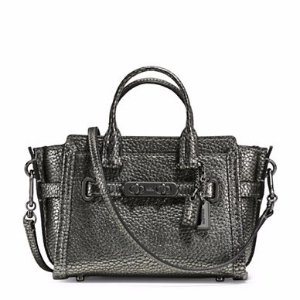 Swagger 15 Textured Leather Satchel