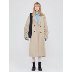 LOCLE SHIRRING TRENCH BEIGE