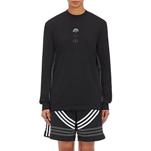adidas Originals by Alexander Wang Cotton Jersey Logo Long-Sleeve T-Shirt | Barneys New York