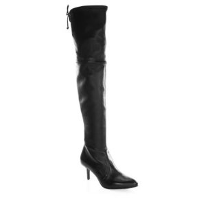 Tie Model Leather Over-the-Knee Boots