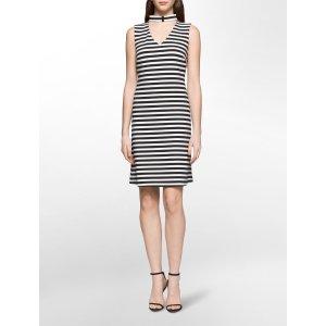 striped cut-out dress | Calvin Klein