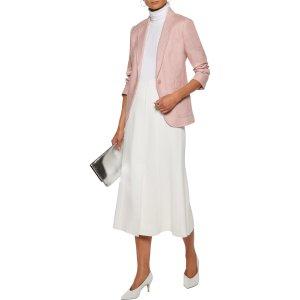 Silk and linen-blend blazer