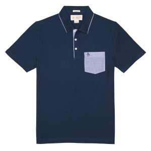 CLASSIC FIT CHAMBRAY MEARL POLO