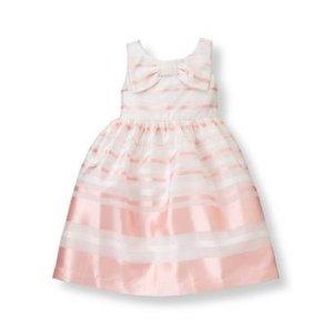 Baby Girl Pearl Pink Stripe Striped Organza Dress at JanieandJack