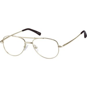 Silver Metal Alloy Full-Rim Frame with Spring Hinges #4191 | Zenni Optical Eyeglasses