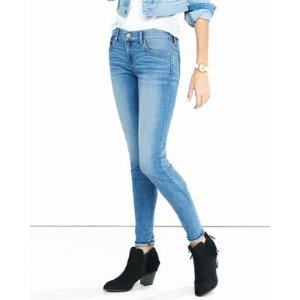 Mid Rise Faded Stretch Jean Leggings | Express