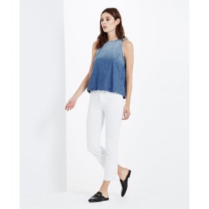 The Jodi Crop In White Crop Flare Jeans
