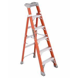 Louisville Ladder Cross-Step 300lb 6' Step/Shelf Ladder