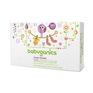 Babyganics Dryer Sheets, Lavender, 120 Loads | Jet.com