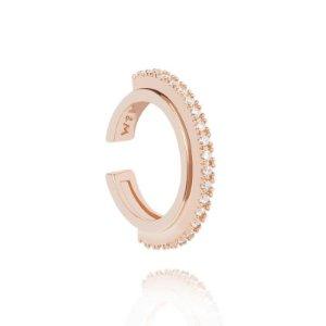Rose Gold Circle Ear Cuff